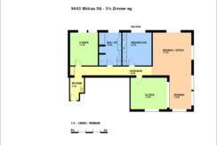 9443 Widnau SG - 3,5 Zimmer wg 134 Grundriss